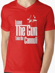 Leave the gun take the cannoli Mens V-Neck T-Shirt