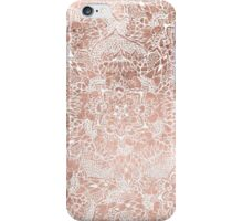 Modern faux rose gold floral mandala hand drawn iPhone Case/Skin