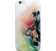 watercolour hare painting iPhone Case/Skin