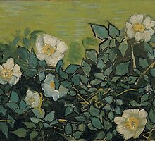 Vincent Van Gogh - Wild roses, April 1890 - May 1890 by famousartworks