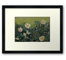 Vincent Van Gogh - Wild roses, Famous Painting. Impressionism. Van Gogh Framed Print
