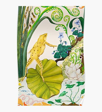Frog and Lilly Poster