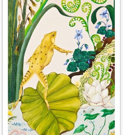 Frog and Lilly Sticker