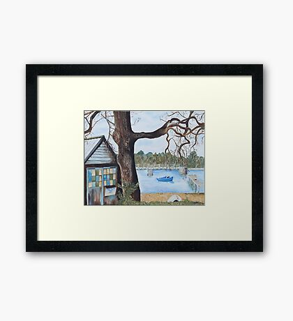 Newtown Creek Boat Hut Framed Print