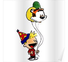 Calvin and Hobbes Party Poster