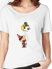 Calvin and Hobbes Party Women's Relaxed Fit T-Shirt