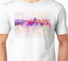 Agra skyline in watercolor background Unisex T-Shirt