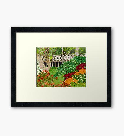 Railway Bridge. Exbury Gardens Framed Print
