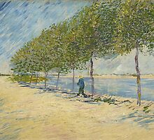 Vincent Van Gogh - By the Seine, 1887 by famousartworks