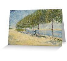 Vincent Van Gogh - By the Seine,  Famous Painting. Impressionism. Van Gogh Greeting Card