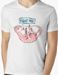 fight me Mens V-Neck T-Shirt