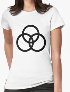 tri oval Womens Fitted T-Shirt