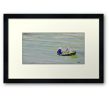 Two Men in a Boat Framed Print