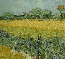 Vincent Van Gogh - Field with Flowers near Arles, 1888 by famousartworks