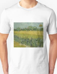 Vincent Van Gogh - Field with Flowers near Arles, 1888 T-Shirt