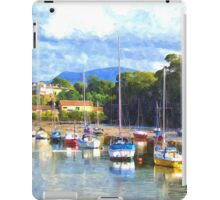 Boats in Harbour, Caernarvon, Wales iPad Case/Skin