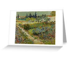 Vincent Van Gogh -Impressionism , Garden at Arles, July 1888 Van Gogh Greeting Card