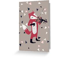 Red foxy violinist Greeting Card