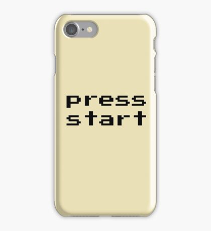 Press start - arcade game iPhone Case/Skin