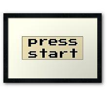 Press start - arcade game Framed Print