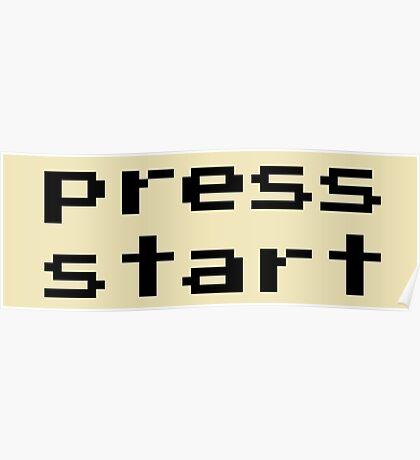 Press start - arcade game Poster