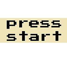 Press start - arcade game Photographic Print