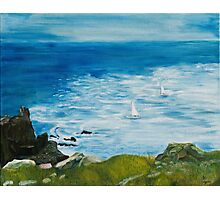 Yachts at Lands End Photographic Print