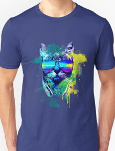 Cat and The Music Color Splatter T-Shirt