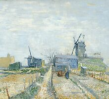 Vincent Van Gogh - Montmartre windmills and allotments, March 1887 - April 1887 by famousartworks