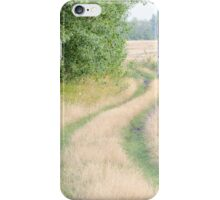 Dirt Road Covered with Grass Horizontal iPhone Case/Skin