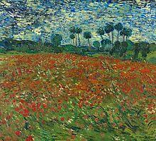 Vincent Van Gogh - Poppy field, June 1890 by famousartworks