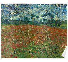 Vincent Van Gogh - Poppy field, June 1890 Poster