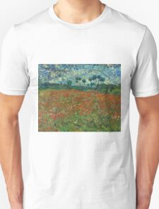 Vincent Van Gogh - Poppy field, June 1890 T-Shirt