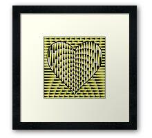 Up & Down Heart Framed Print