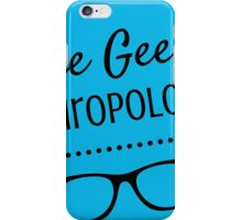 The Geek Anthropologist logo Wide iPhone Case/Skin