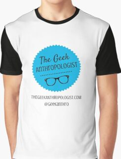 The Geek Anthropologist Logo and Contact Infos Graphic T-Shirt