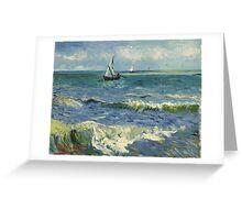 Vincent Van Gogh - Seascape near Les Saintes-Maries-de-la-Mer, June 1888 - 1888 Greeting Card