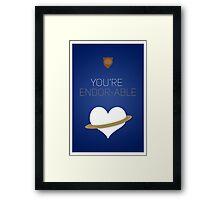 You're Endorable - Star Wars Love Framed Print