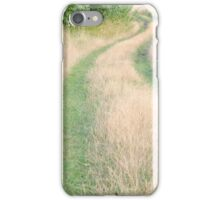 Dirt Road Covered with Grass Vertical iPhone Case/Skin