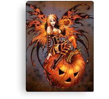Fairy of Halloween Pumpkin Canvas Print