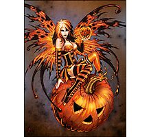 Fairy of Halloween Pumpkin Photographic Print