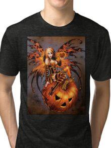 Fairy of Halloween Pumpkin Tri-blend T-Shirt