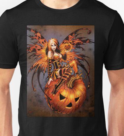 Fairy of Halloween Pumpkin Unisex T-Shirt