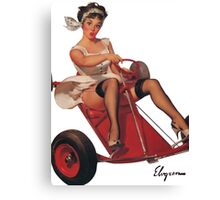 Pin up girl Canvas Print