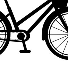 BICYCLE - BLACK AND WHITE CLASSIC Sticker
