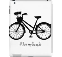 BICYCLE - BLACK AND WHITE CLASSIC iPad Case/Skin