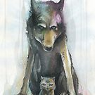 Wolf & Kitten by phresha