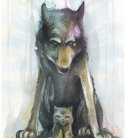 Wolf & Kitten Sticker
