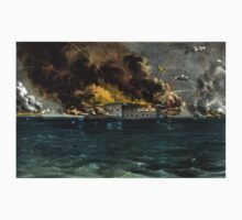 Bombardment of Fort Sumter, Charleston Harbor - 1861 - Currier & Ives Baby Tee