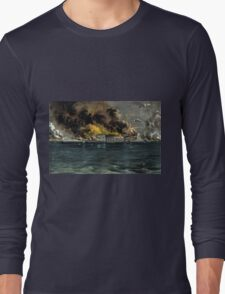 Bombardment of Fort Sumter, Charleston Harbor - 1861 - Currier & Ives Long Sleeve T-Shirt
